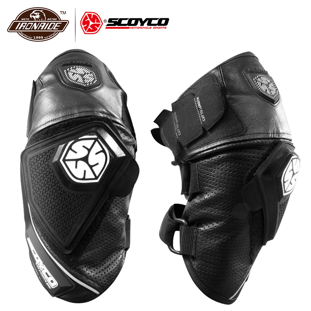 SCOYCO Motorcycle Knee Pad Leather Motocross Pad Knee Pads Protective Gear Breathable Moto Knee Motorcycle Protection Black motorcycle protection motorcycle knee pads protector moto racing protective gear pro biker p03 motocross knee protector