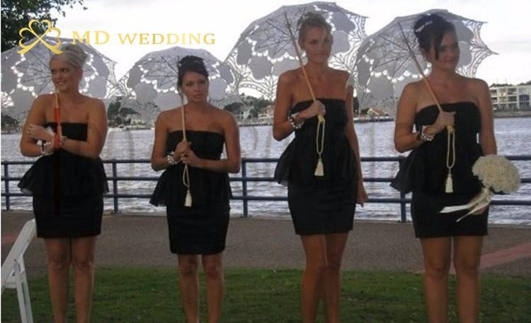 New Lace Umbrella Cotton Embroidery White/Ivory Battenburg Lace Parasol Umbrella Wedding Umbrella Decorations Free Shipping 43