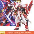 Daban modelo MG Gundam Astray Red quadro MBF-P02 KAI 1/100 anime japonês montado Kits PVC figuras de ação robots crianças brinquedos