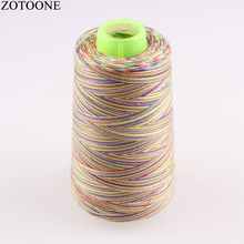 Machine Industrial Sewing Thread Spool Rainbow Polyester sewing thread Multicolor Suppiles 3000Y/Spool 40S/2SE0017C4