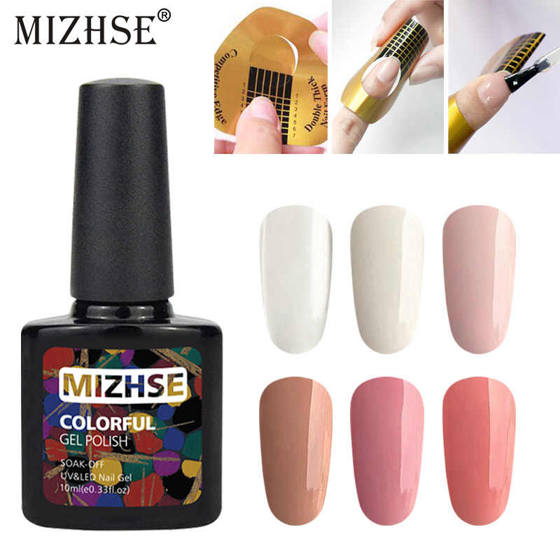 MIZHSE 10 ml Extension Gel Clear Roze Naakt Nail Tips Set Kits UV Builder Gel Nail Art Poly Gel Jelly acryl Nagel Lak