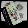 Diseños de tatuajes Libro Para Colorear Diseños Populares Alimentación de Referencia Sketch Book Flash Manuscrito de 112 páginas Para El Maquillaje Del Tatuaje Arte Corporal