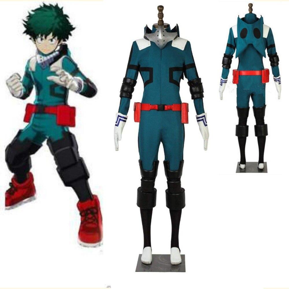 Новый аниме My HeroMidoriya Izuku костюмы для косплея academic Boku no Hero Akademia Izuku Midoriya карнавальный костюм с аксессуарами