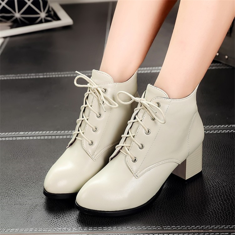 Boots PU 40 41 Warm Shoes Woman s 31 32 33 44 45 46 47 Small