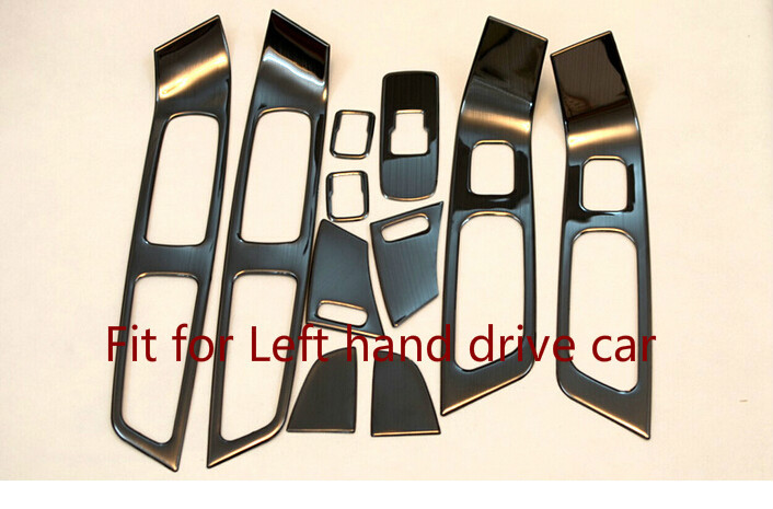 Car window button control panel cover trim For Volvo XC60 2009 2010 2011 2012 2013 2014 2015