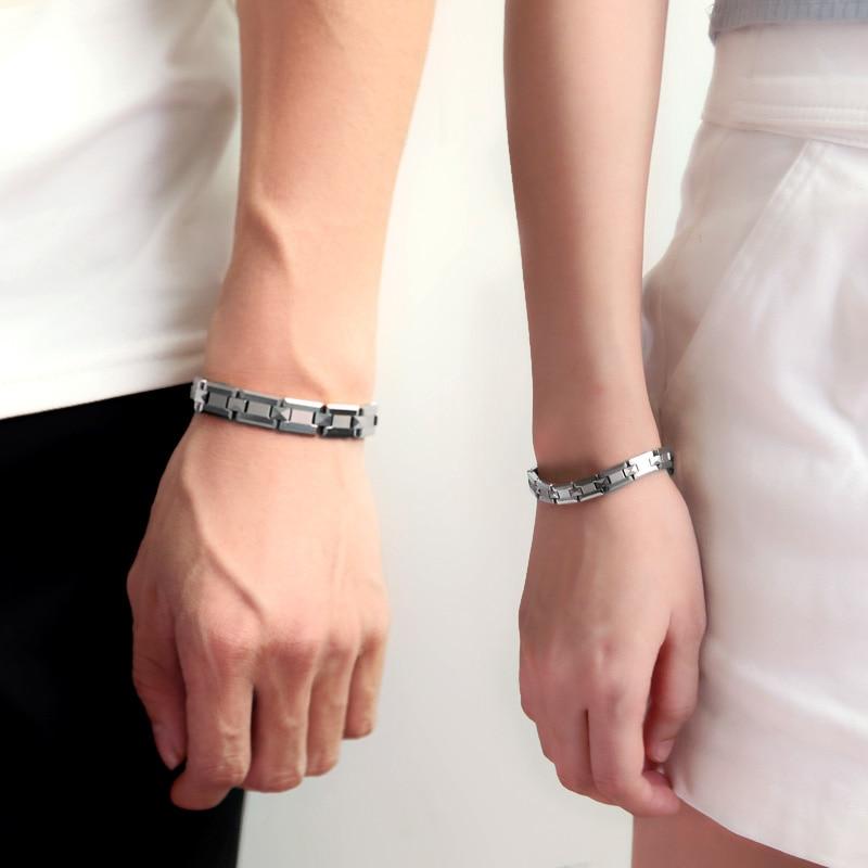 Offre spéciale! 38 nouveauté Bracelet en tungstène à la mode Bracelets cadeaux de noël Bracelets magnétiques pour les amoureux Bracelet de guérison de santé