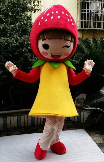 Déguisement de mascotte de fraise aux fruits personnage de dessin animé costumes de mascotte adulte pour costumes de fête d'halloween