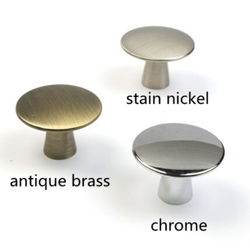 40mm Modern Simple Silver /chrome Stain Nickel Drawer Tv Cabinet Knobs Pulls  Antique Brass Drawer