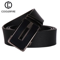 COOLERFIRE New Fashion Mens Belt Top Cow Genuine Leather Automatic Buckle Belts For Men Causal Strap