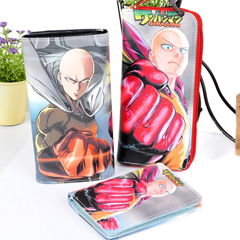 High Quality Cartoon Anime Cosplay One Punch Man Wallet Card Holder Zipper Purse Dollar Price 3 Styles