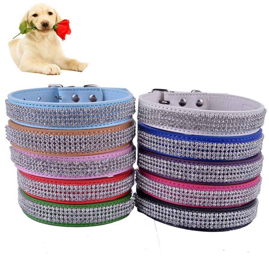 패션 라인 석 개 - 칼라 다채로운 Pu 가죽 고리 - 애완 동물 제품