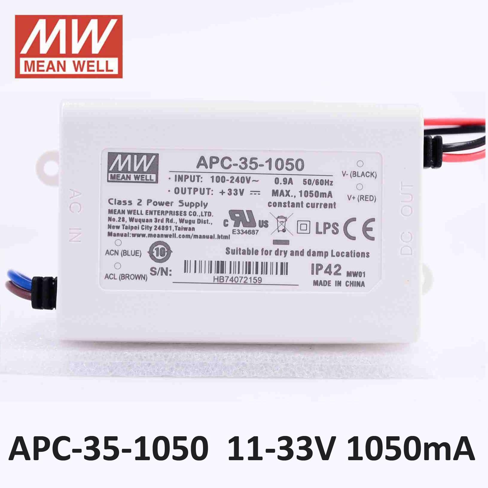 APV-35-24 LED Alimentation 36W 24V 1,5A ; MeanWell