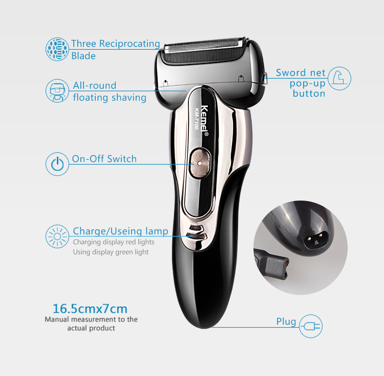 3 Heads Maglev Motor Razor Electric Shaver Strong Power Shaving Waterproof Razors Men Face Care 3D Floating Men Beard Trimmer 220v 110v strong 90 e102s e type motor