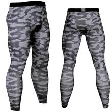2018 New Men's Camouflage / Compression Tights / Leggings Runs Sports / Gym Male Pants / Capris of Fitness / Pants Quick Drying(China)