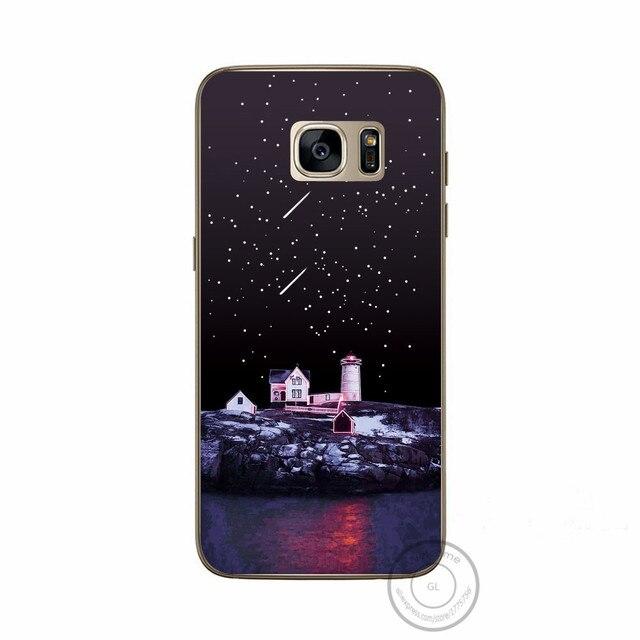 Pour Samsung s7 bord coque de téléphone Grand Nature paysage montagne ville mer érable motif TPU Silicone couverture souple pour Samsung S7 bord