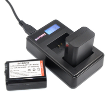 LCD USB Dual Charger for SONY FW50 NP FW50 NP-FW50 NPFW50 Battery