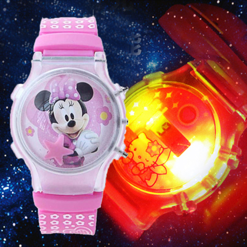 LED Flash Light Glow Kids Watches Girls Boys Clock Silicone Child Watch Mouse Jelly Fashion Lantern Children Watch Reloj Mujer