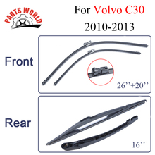 Windshield Front/Rear Wiper Arm&Blade For Volvo C30,2010-2013,Window Silicone Rubber Brush Car Accessories 26''+20''