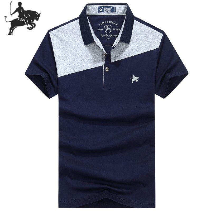 Summer New   Polo   Shirt Men Boutique Embroidery Breathable Cotton   Polo   Shirt Men's Lapel Splice Casual   Polo   Shirt
