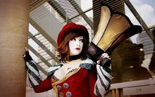 Borderlands Mad Moxxi cosplay women brunettes uniform costume cleavage redhead sexy babes models Home Decoration Canvas Poster