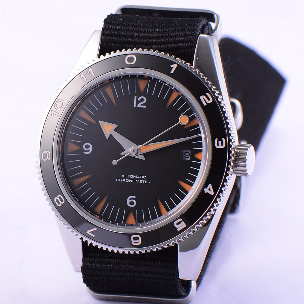 Sterile 41mm Debert mens watch black dial Sapphire Glass luminous ceramic bezel 5ATM Automatic wrist watch menSterile 41mm Debert mens watch black dial Sapphire Glass luminous ceramic bezel 5ATM Automatic wrist watch men