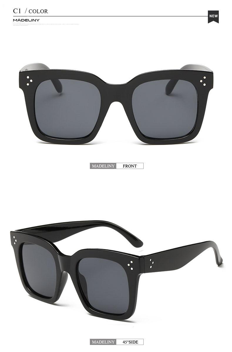 HTB1R2ycdgvD8KJjy0Flq6ygBFXaJ - MADELINY Fashion Sunglasses Women Vintage Brand Design Square Luxury Sun glasses Big Frame Shades Eyewear Oculos UV400 MA033