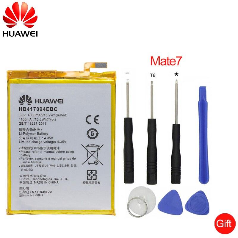 Hua Wei de reemplazo de batería del teléfono HB417094EBC para Huawei Ascend Mate 7 MT7 TL00 TL10 UL00 CL00 4100 Mah