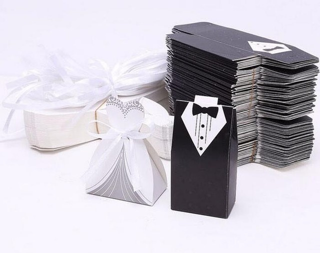 250pcs Groom Bride Wedding And Event Suppliesbride And Groom Box