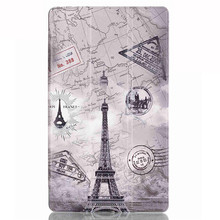 Tempered Glass Screen Protector Film + PU leather cover stand case for Lenovo tab 3 850 (TB3-850F/TB3-850M) tab3-850