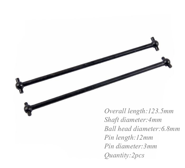 Free Shipping 2pcs HSP 60063P 1/8 HSP RC Monster Truck Buggy Car Center Front Dogbone Dog bone 123.5mm transmission shaft hsp 1 16 scale rc car parts no 86062 dog bone drive shaft suitable 94185 94186 94193 page 2
