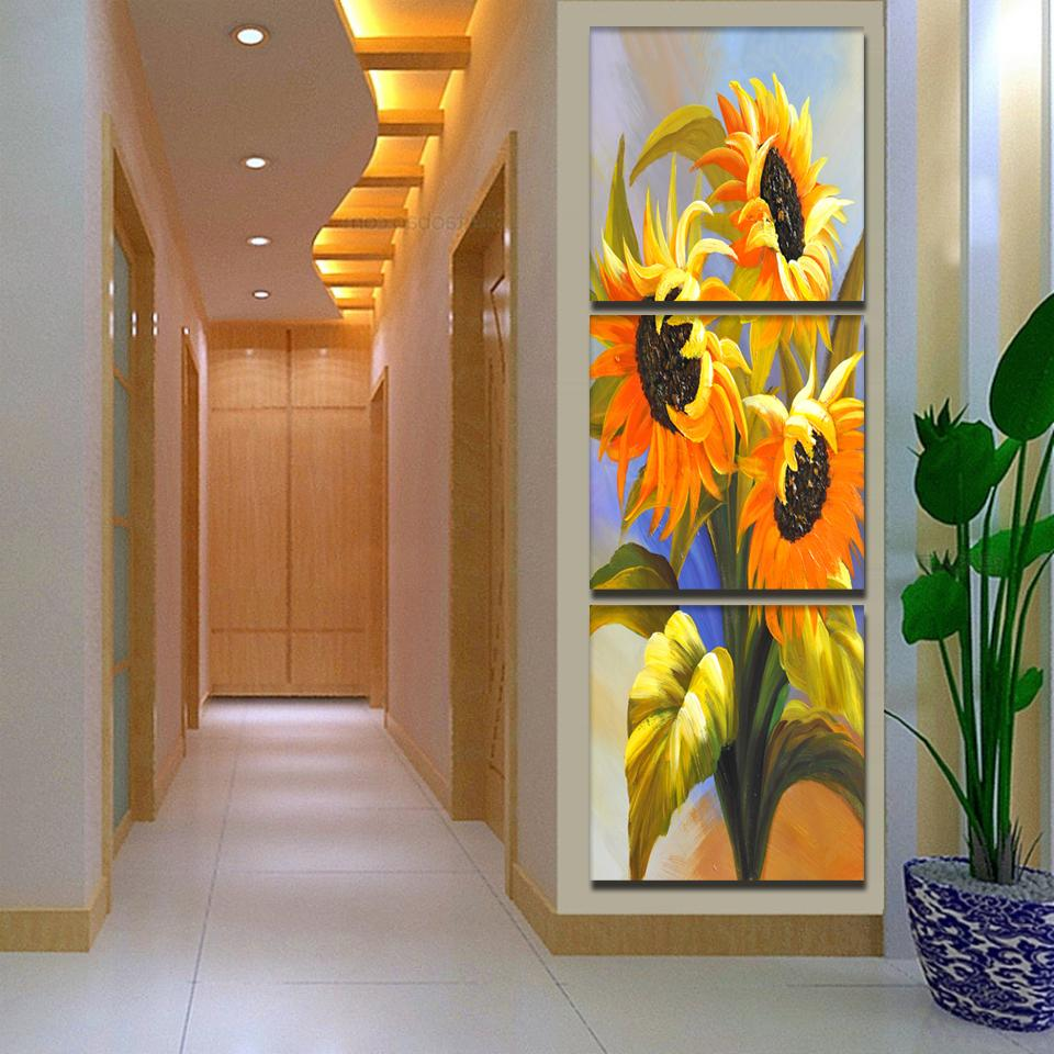 Wall Art Paintings Sunflower Oil Paintings Home Decor Painting On Canvas Picture For Living Room