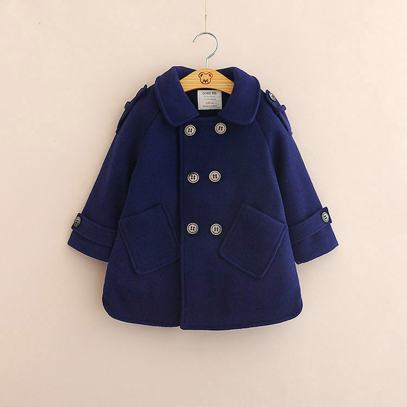 39afc470f655 Detail Feedback Questions about Navy Blue Woolen Winter Boys Jacket ...