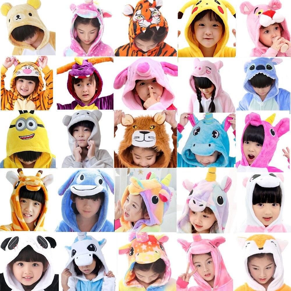 BIKIRUB Children Pajamas Winter Sleepwear Boys Onesies Girls Pajama Set Kigurumi Unicorn Pikachu Stitch Panda Animal Pyjama Kids
