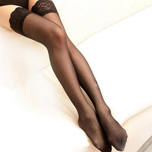 Thigh High Nylon Laced Stocking for Women