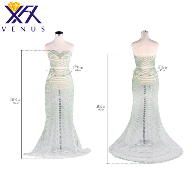 XINFANGXIU Bridal Crystal Beaded Long Bodice Patch Dress for Wedding Dress  Rhinestone Patch Applique Bodice Trimming Sewing On 1a075fb2f089