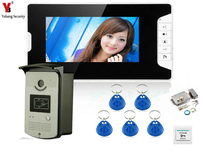 YobangSecurity 7 Inch Door Viewer font b Video b font Doorbell and Home Security Camera Monitor