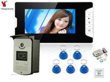 YobangSecurity 7 Inch Door Viewer Video Doorbell and Home Security Camera Monitor Intercom System with Electronic Door Lock