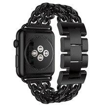 38/42mm de Apple Venda de Reloj Correa de Reloj de correa de Metal Cadena de Eslabones de Acero Inoxidable Serie 1/2 de Vaquero Casual Band pulsera