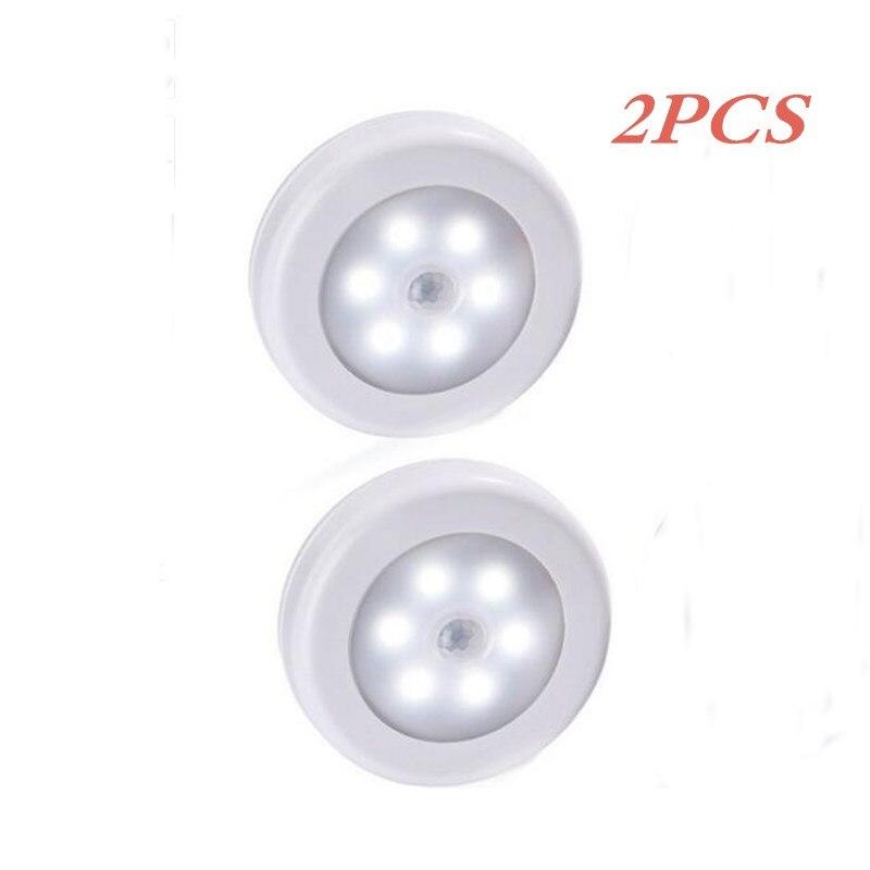 Litake  Infrared PIR Motion Sensor 6 Led Night Light Wireless Detector Light Wall Lamp Light Auto On/Off Closet Battery Power