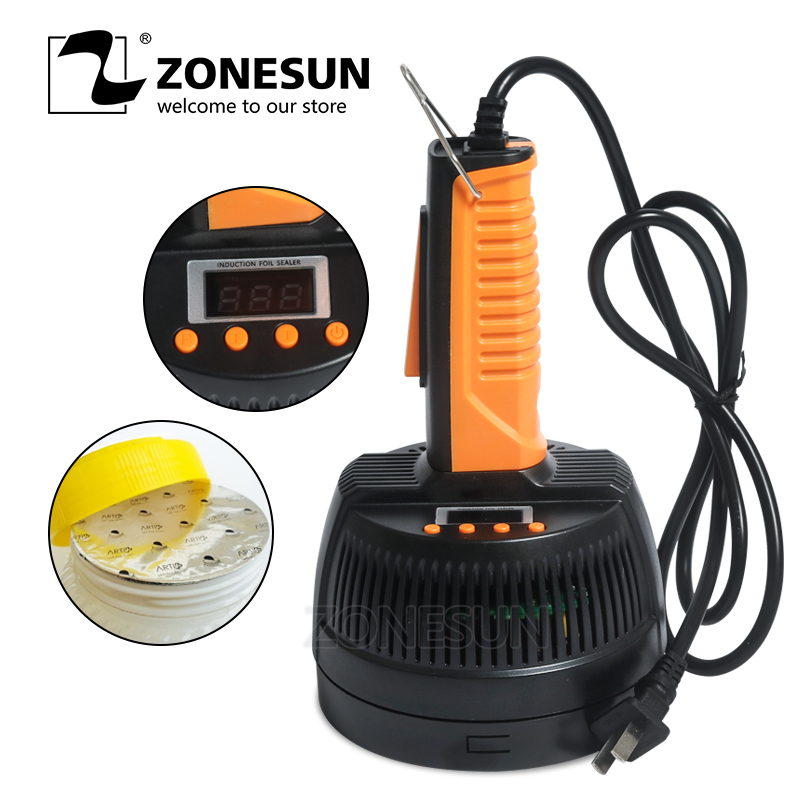 ZONESUN Microcomputer Handheld Electromagnetic Induction Aluminum Foil Heat Sealing Machine Continuous Bottle Induction Sealer