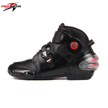 PRO-BIKER Dragon Fire Motorcycle Boots Ankle Moto Motorbike Boots Botas Off Road Racing Shoes Road Riding Shoes Leather