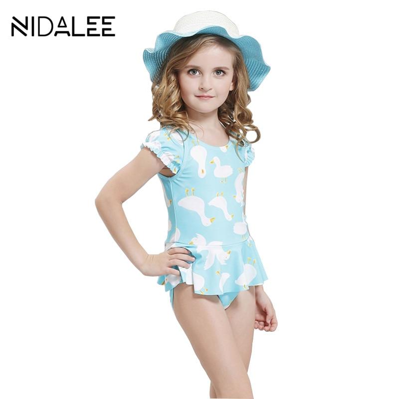 Girls Sports Swimsuit for Children Professional Training ...