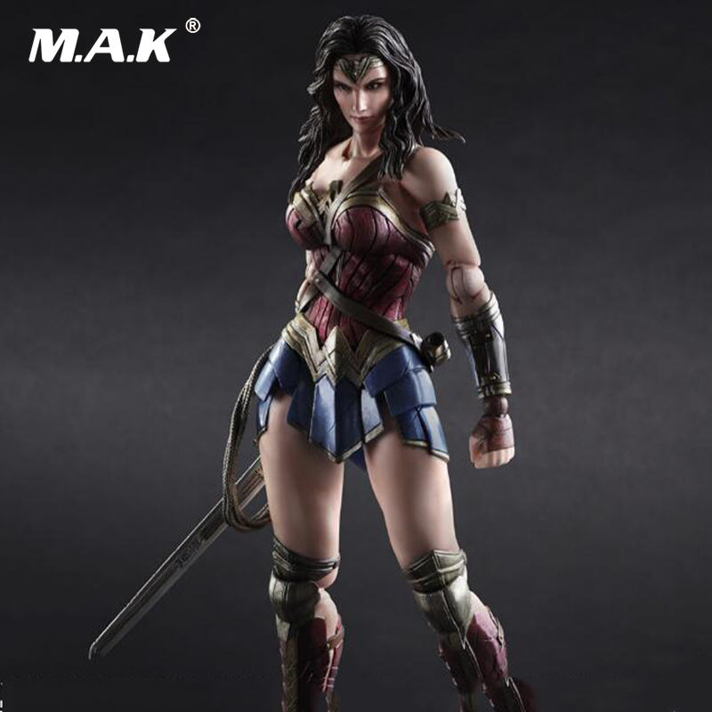 Children's Toys PLAY ARTS Batman v Superman The Dawn of Justice 27cm PVC Anime Figure Wonder Woman DC Action Figure Model Toys new hot 19 22cm justice league batman v superman dawn of justice wonder woman action figure toys collection christmas gift doll