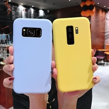 plain candy color silicone phone case on for samsung galaxy s10 lite s9 s8 plus s7 s6 edge s7edge soft tpu back cover coque