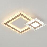 Branco moderno conduziu a iluminação do candelabro para o quarto sala de estar jantar lustre acrílico luminaria lampadario lustre teto|Lustres| |  -