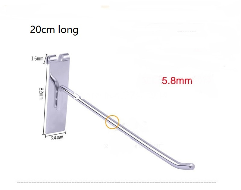 (100 Pcs/pack ) 20cm Length 6mm Diameter Security Display Pegboard Hooks Stop Lock, Peg Hook Locks