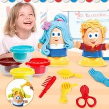 Kinder Spielen Teig Kreative 3D Pädagogisches Spielzeug Modellierung Ton Plastilin Werkzeug Kit DIY Design Hairstylist Modell Spielzeug Für Kinder