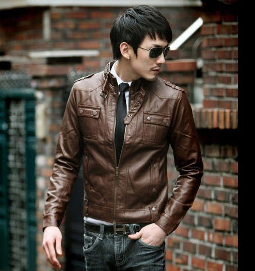 2013 jacket men slim sexy style coat leather jacket for men ...