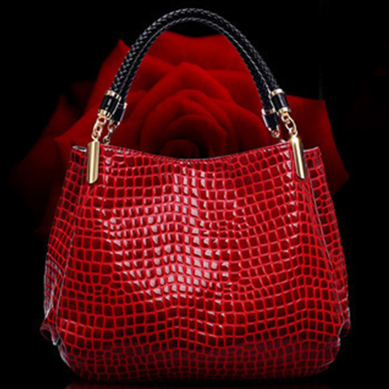 Fashion Woman Shoulder Bags Famous Brand Luxury Crocodile Pattern Handbags Designer High Quality PU Totes Women Mujer Bolsas