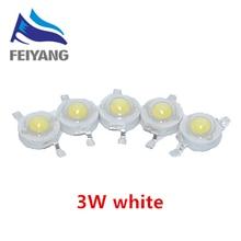 200 Pçs/lote Real Epistar Chip Originais 3W White LED Bulb Lamp Diodos Beads 180lm 200lm